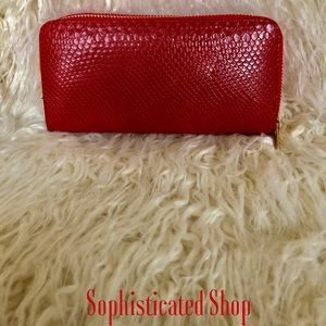 🌹New Macy's Leather Croc Wallet🌹